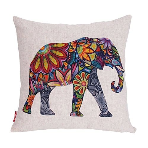 Kingla Home? Square Pillow Cases Cotton Linen Decorative Throw Pillow Covers 18 X 18 Inch ...