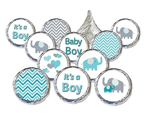 blue and grey tickets with elephants hearts and zig zag patterns