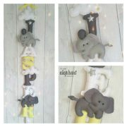 personalised baby name garland with two elephants