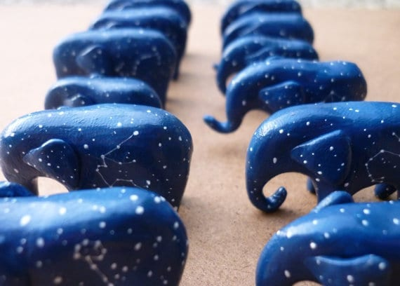 star sign painted elephant ornament