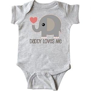 Cute Elephants Long Sleeve Creeper inktastic My Dad Loves Me