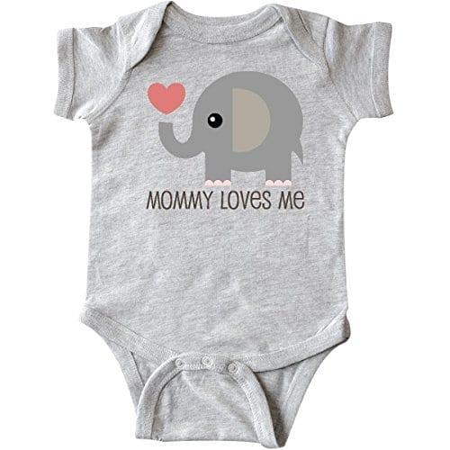 Inktastic Unisex Baby Mommy Loves Me Elephant Infant Creeper Newborn