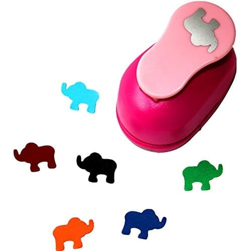 pink elephant paper punch