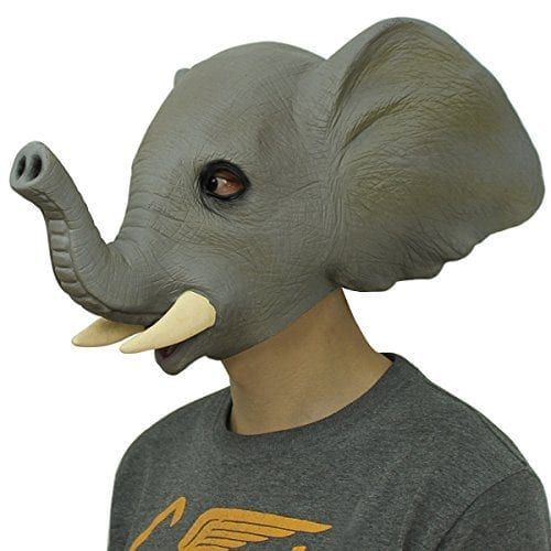 rubber elephant mask