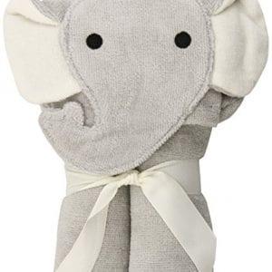 grey towel with elephant hood