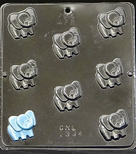 plastic mould for small elephant chocolates