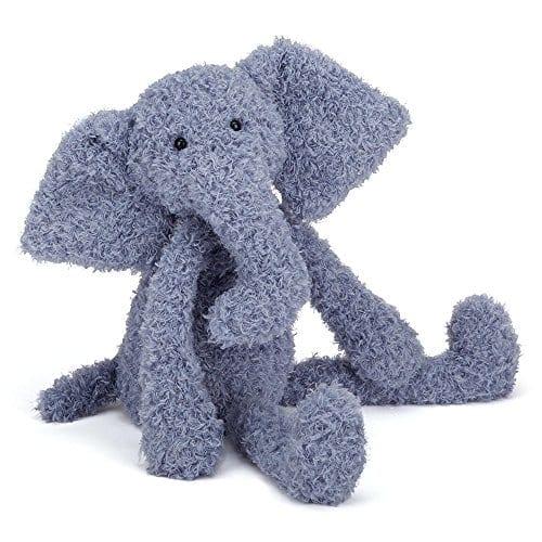 blue elephant fuzzy stuffed animal