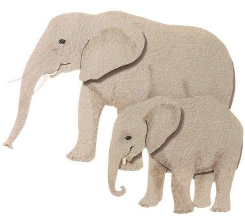 felt grey elephant stickers