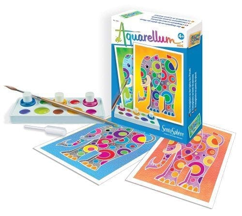 arts and crafts paint set with elephant pictures