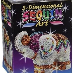Sequin art kit for making elephant model