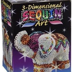 Sequin art kit for making elephant model
