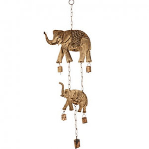 metallic elephant wind chimes