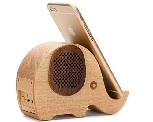 wood effect elephant shaped speaker