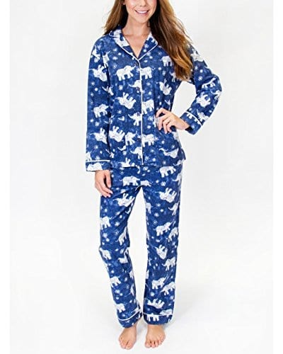 blue and white classic elephant pyjamas