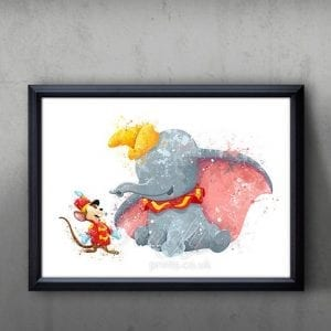 print of dumbo the elephant