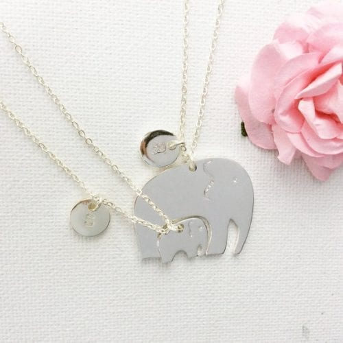 necklace with nestled elephants